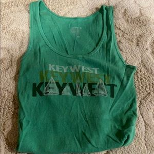 Ribbed key west tank top